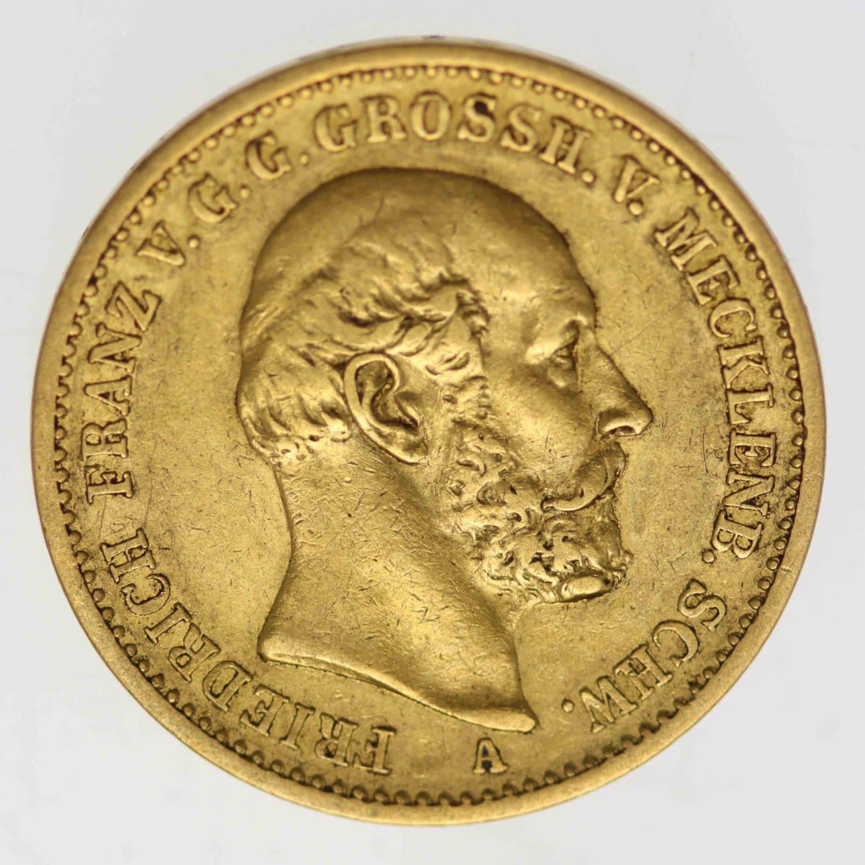deutsches-kaiserreich-ab-1871 - Mecklenburg Schwerin Friedrich Franz II. 20 Mark 1872