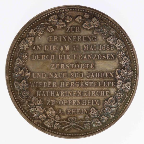 altdeutschland-deutsche-silbermuenzen - Oppenheim am Rhein Silbermedaille 1889