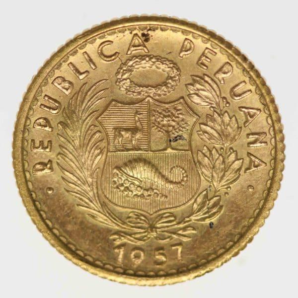 peru - Peru 10 Soles 1957