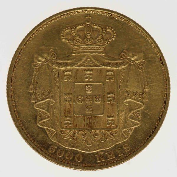 portugal - Portugal Ludwig I. 5000 Reis 1887