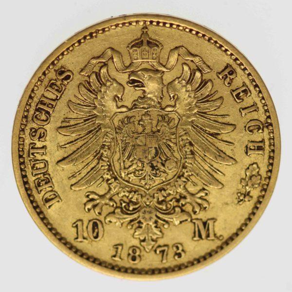 deutsches-kaiserreich-ab-1871 - Preussen Wilhelm I. 10 Mark 1873 A