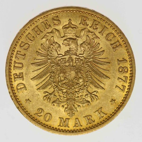 deutsches-kaiserreich-ab-1871 - Preussen Wilhelm I. 20 Mark 1877 A