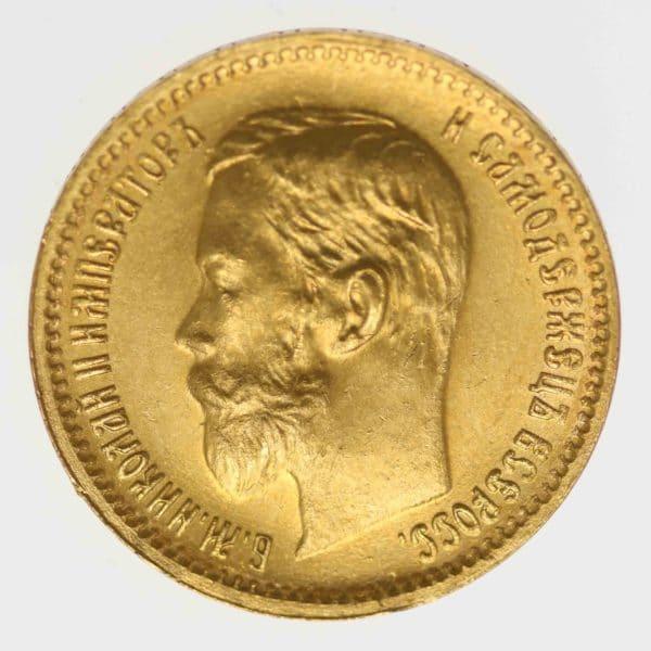 russland - RusslandNikolaus II. 5 Rubel 1902