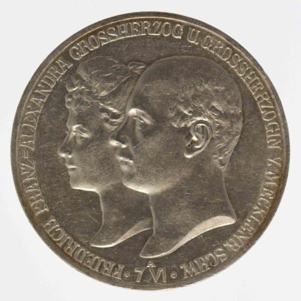 deutsches-kaiserreich-ab-1871-deutsche-silbermuenzen - Mecklenburg-Schwerin Friedrich Franz IV. 5 Mark 1904