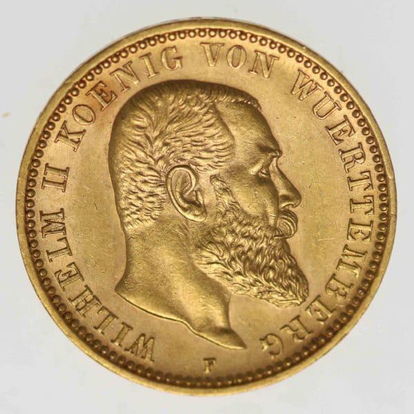 deutsches-kaiserreich-ab-1871 - Württemberg Wilhelm II.10 Mark 1898
