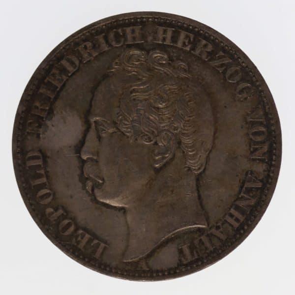 altdeutschland-deutsche-silbermuenzen - Anhalt Dessau Leopold Friedrich Vereinstaler 1863