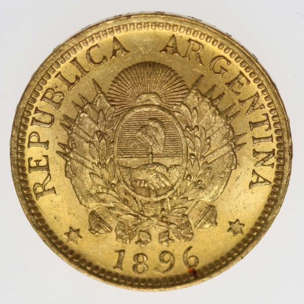 argentinien - Argentinien 5 Pesos / Argentino 1896