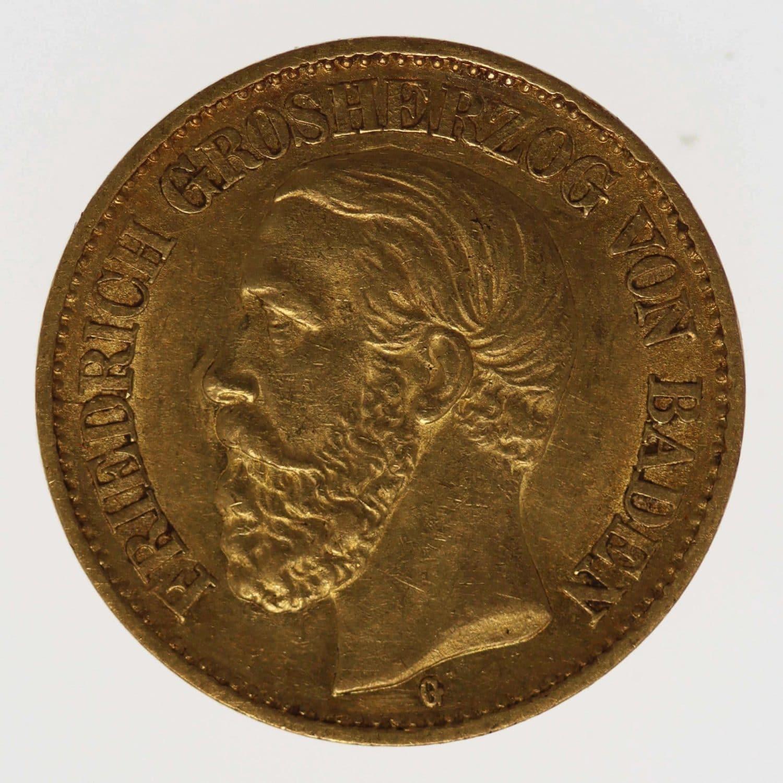 deutsches-kaiserreich-ab-1871 - Baden Friedrich I. 10 Mark 1879