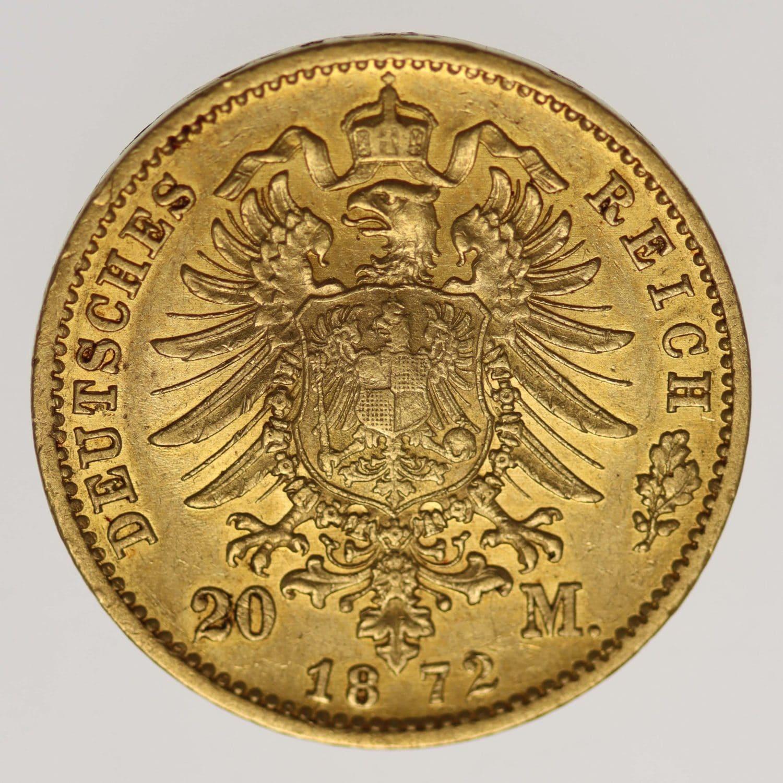 deutsches-kaiserreich-ab-1871 - Baden Friedrich I. 20 Mark 1872