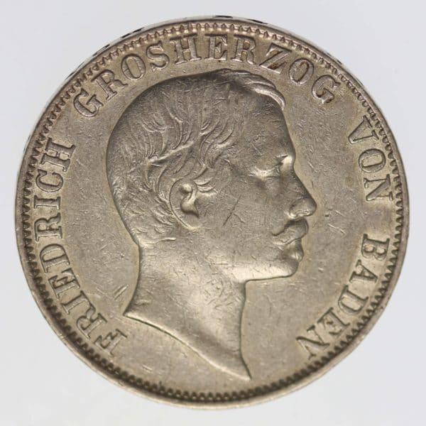 altdeutschland-deutsche-silbermuenzen - Baden Friedrich I. Vereinstaler 1860