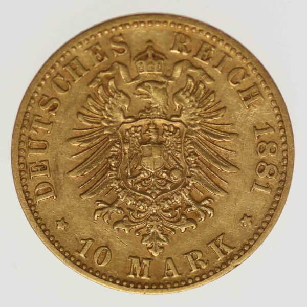 deutsches-kaiserreich-ab-1871 - Bayern Ludwig II. 10 Mark 1881