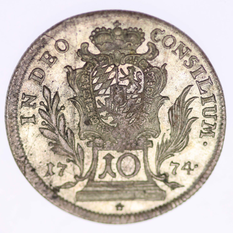 altdeutschland-deutsche-silbermuenzen - Bayern Maximilian III. Joseph 10 Kreuzer 1774