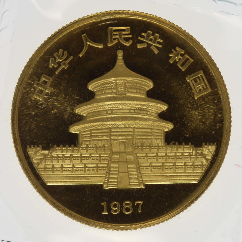 china - China Panda 1/2 Unze 1987