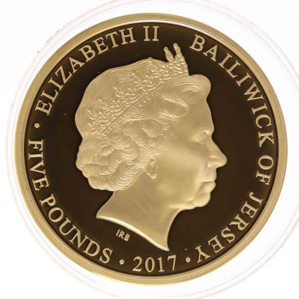 grossbritannien - Jersey Elisabeth II. 5 Pounds 2017