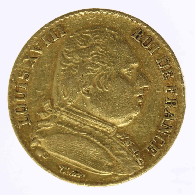 frankreich - Frankreich Louis XVIII. 20 Francs 1814 K