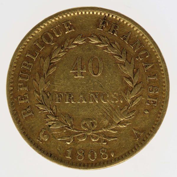 frankreich - Frankreich Napoleon I. 40 Francs 1808 A