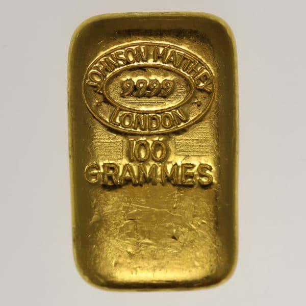 goldbarren - Goldbarren 100 GrammJohnson Matthey