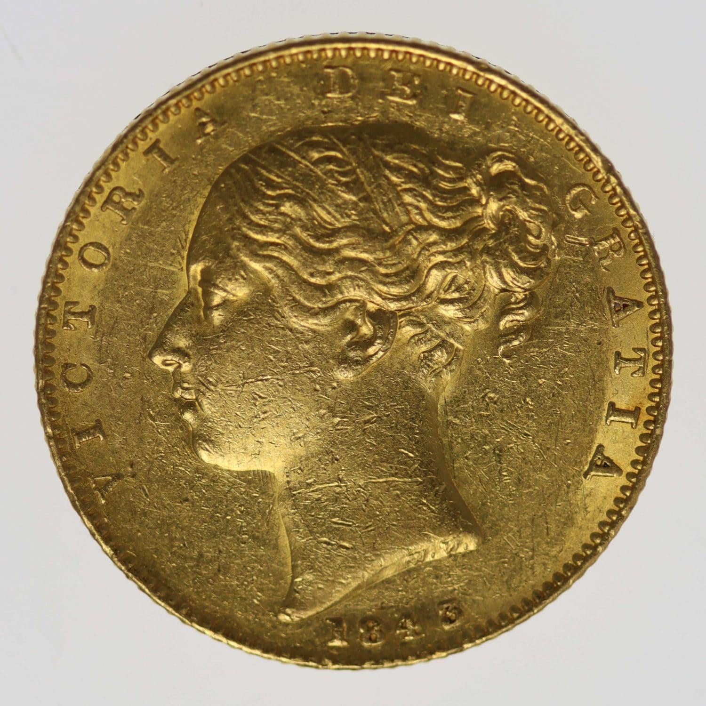grossbritannien - Großbritannien Victoria Sovereign 1843