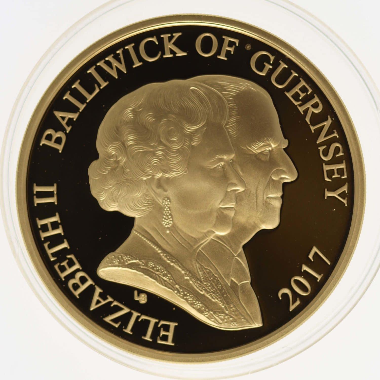 grossbritannien - Guernsey Elisabeth II. 5 Pounds 2017