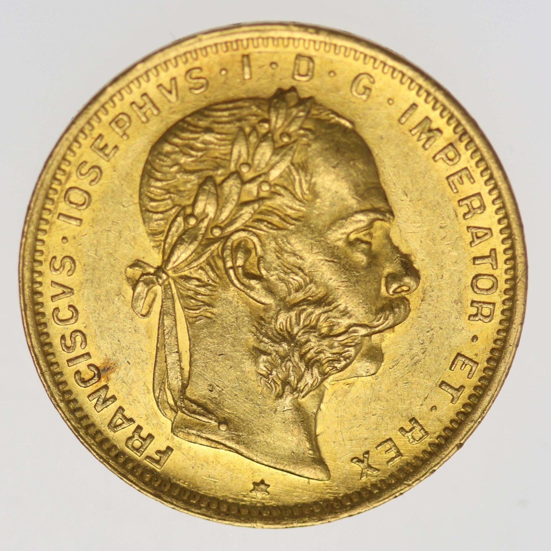 oesterreich - Österreich Kaiserreich Franz Joseph I. 8 Gulden 1889