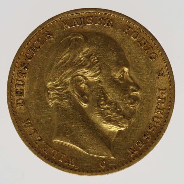 deutsches-kaiserreich-ab-1871 - Preussen Wilhelm I. 10 Mark 1872 C