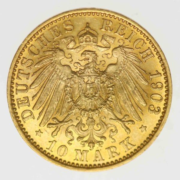 deutsches-kaiserreich-ab-1871 - Preussen Wilhelm II. 10 Mark 1903 A