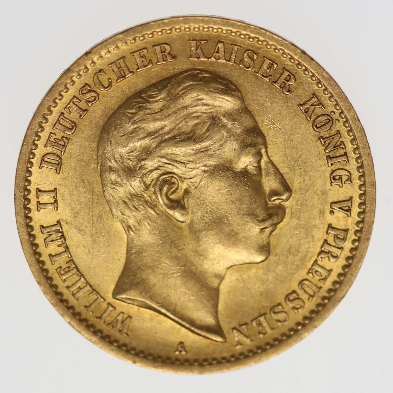 deutsches-kaiserreich-ab-1871 - Preussen Wilhelm II. 10 Mark 1910 A