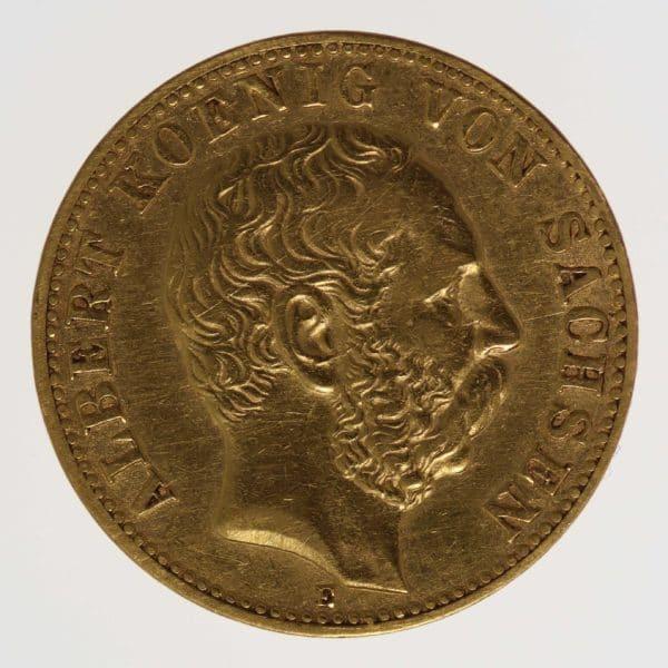 deutsches-kaiserreich-ab-1871 - Sachsen Albert 10 Mark 1875
