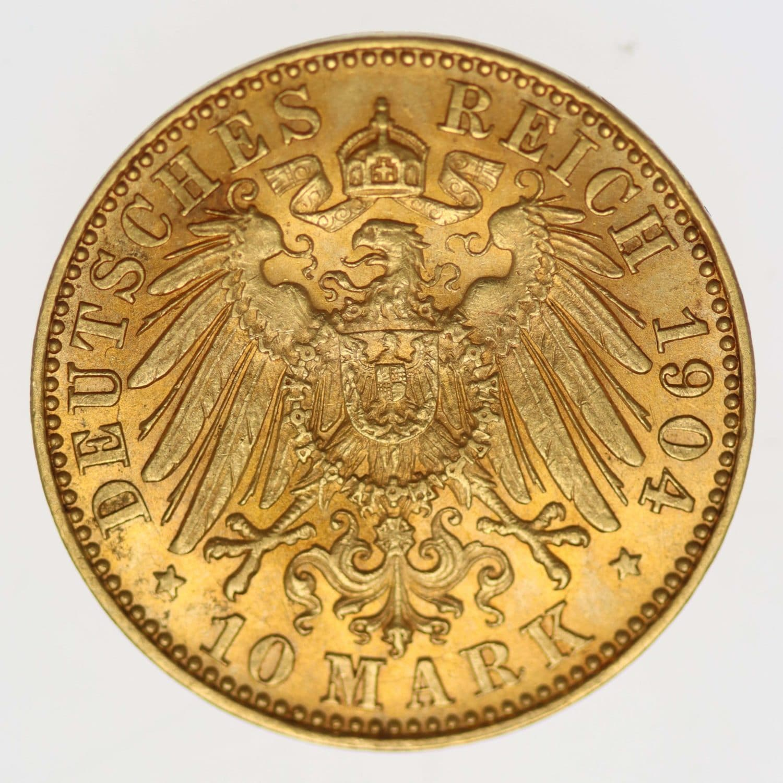 deutsches-kaiserreich-ab-1871 - Sachsen Georg 10 Mark 1904