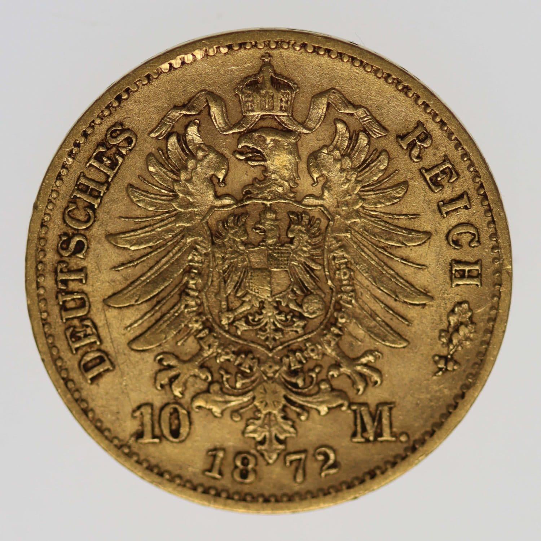 deutsches-kaiserreich-ab-1871 - Sachsen Johann 10 Mark 1872