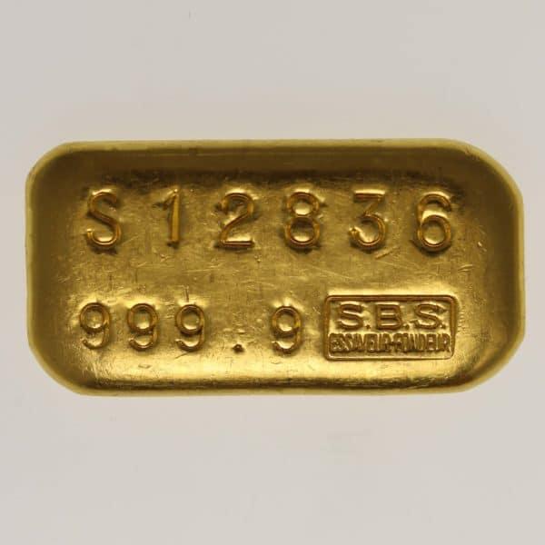 goldbarren - Goldbarren 100 GrammSchweiz S.B.S. Societe de Banque Suisse