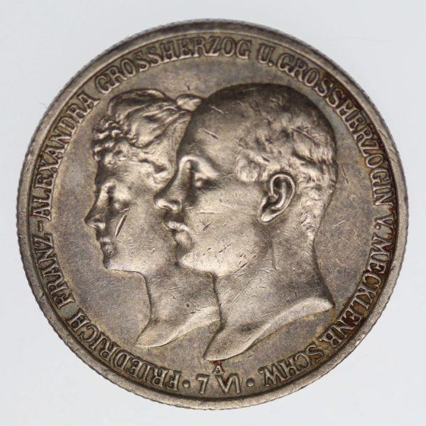 deutsches-kaiserreich-ab-1871-deutsche-silbermuenzen - Mecklenburg-Schwerin Friedrich Franz IV. 2 Mark 1904