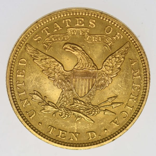 usa - USA 10 Dollars 1907 Liberty / Kopf