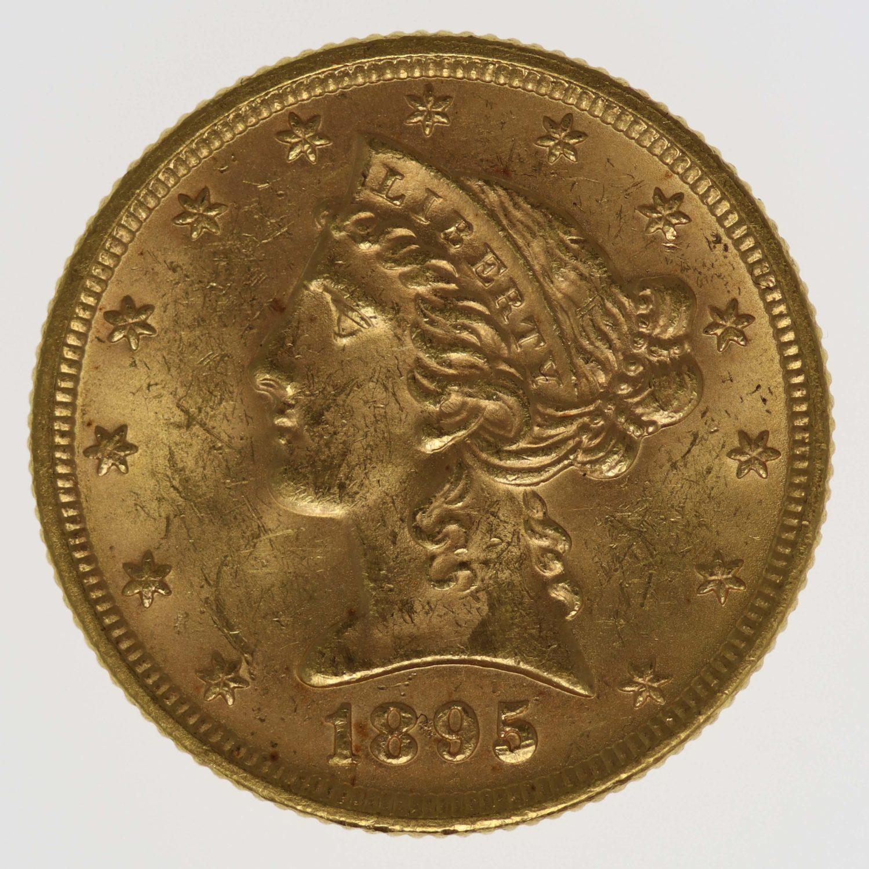 usa - USA 5 Dollars 1895 Liberty / Kopf
