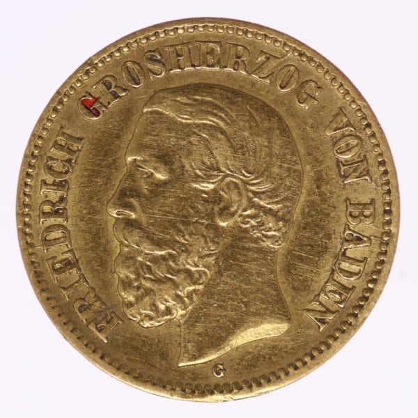 deutsches-kaiserreich-ab-1871 - Baden Friedrich I. 5 Mark 1877 G