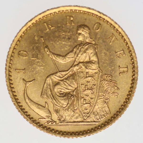 daenemark - Dänemark Christian IX. 10 Kronen1900