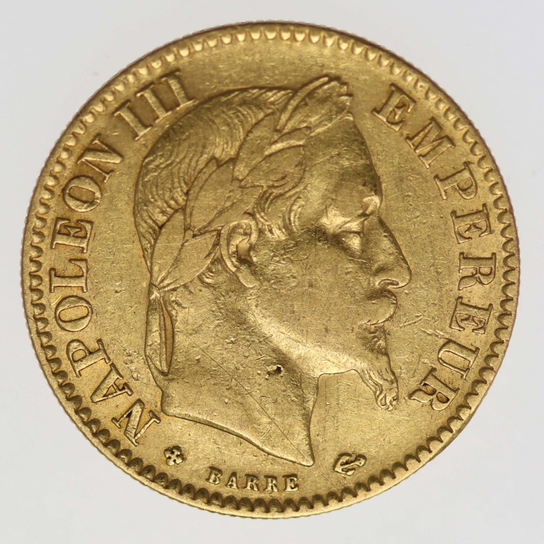 frankreich - Frankreich Napoleon III. 10 Francs 1864 BB