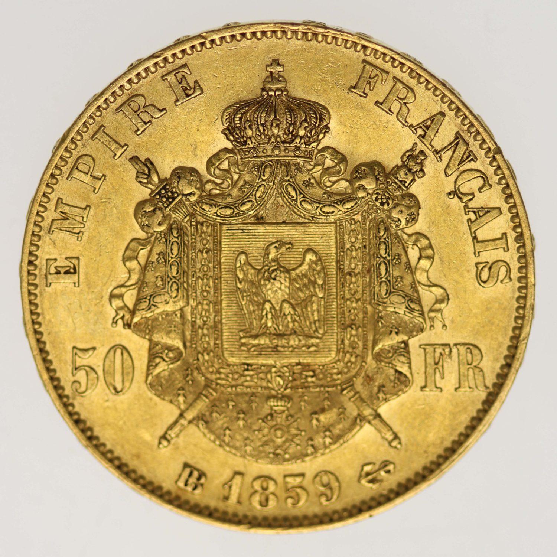frankreich - Frankreich Napoleon III. 50 Francs 1859 BB