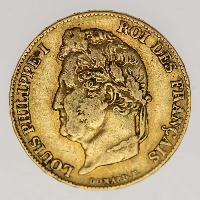 frankreich - Frankreich Louis Philippe I. 20 Francs 1840 A
