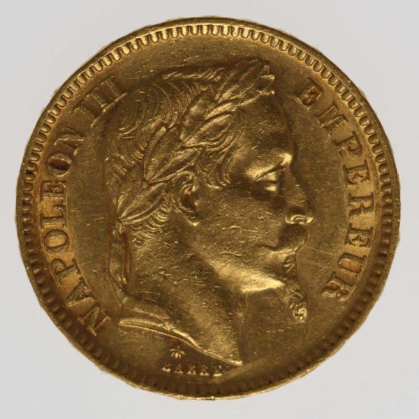 frankreich - Frankreich Napoleon III. 20 Francs 1863 A