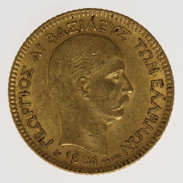 griechenland - Griechenland Georg I. 20 Drachmen 1884