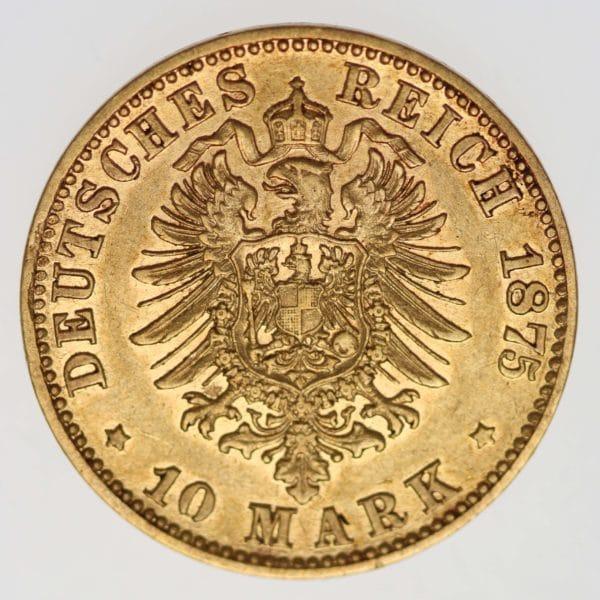 deutsches-kaiserreich-ab-1871 - Hessen Ludwig III.10 Mark 1875