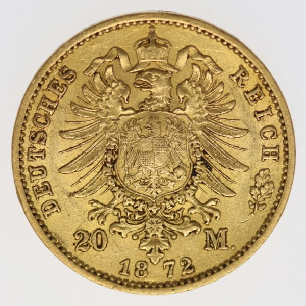 deutsches-kaiserreich-ab-1871 - Preussen Wilhelm I.20 Mark 1872 C