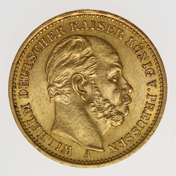 deutsches-kaiserreich-ab-1871 - Preussen Wilhelm I. 20 Mark 1884 A