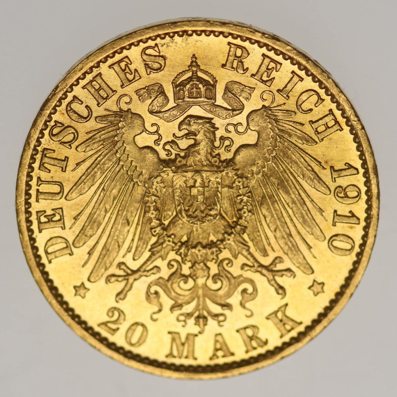 deutsches-kaiserreich-ab-1871 - Preussen Wilhelm II.20 Mark1910 A