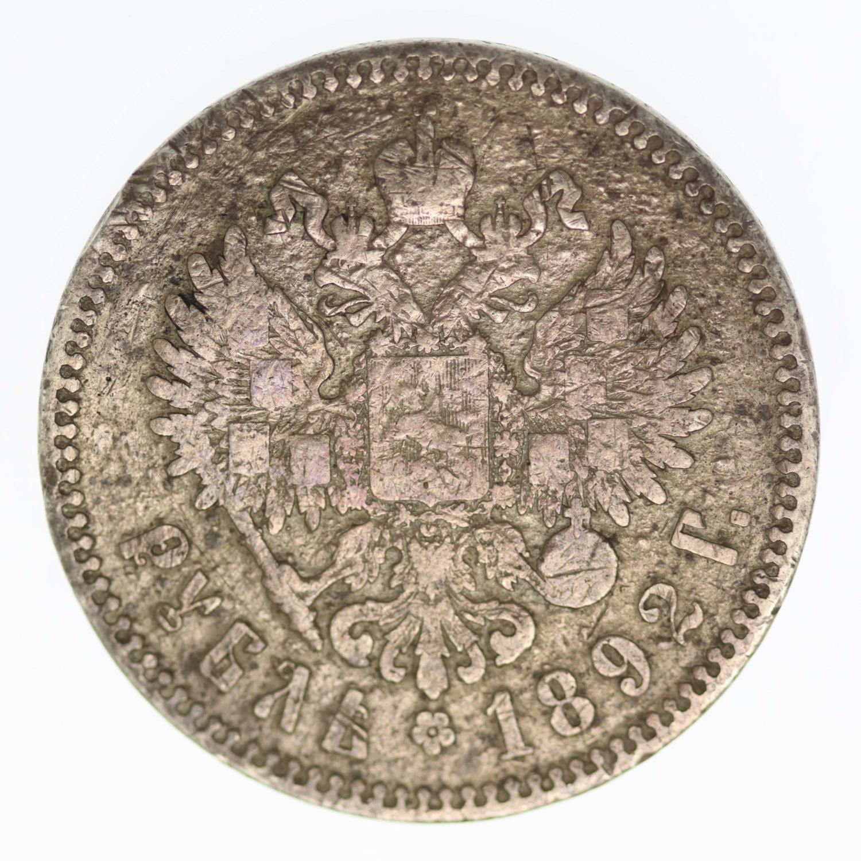 russland-silbermuenzen-uebriges-europa - RusslandAlexander III. Rubel 1892