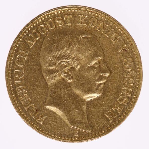 deutsches-kaiserreich-ab-1871 - Sachsen Friedrich August 10 Mark 1906