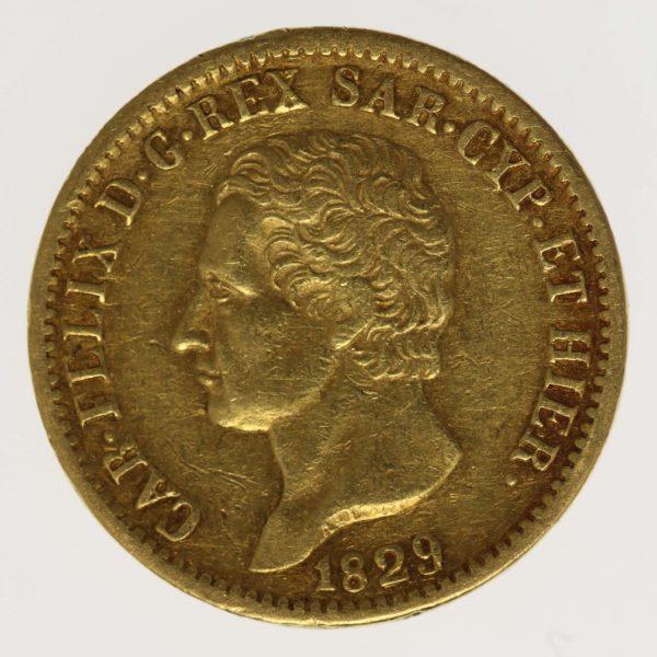 italien - Italien Sardinien Karl Felix 20 Lire 1829