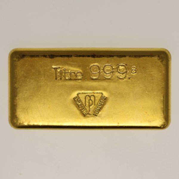 goldbarren - Goldbarren 100 GrammSchweiz S.B.S. Métaux Précieux S.A.