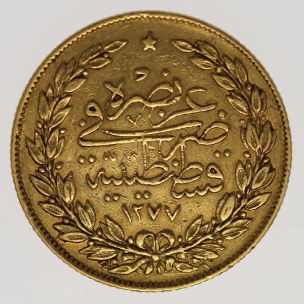 tuerkei - Türkei Abdul Aziz 100 Kurush 1869